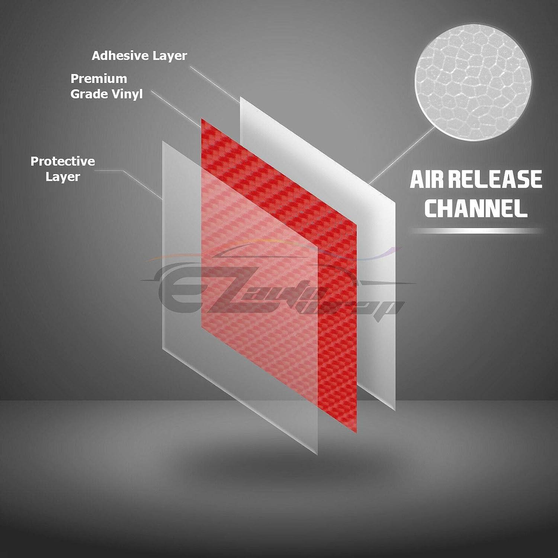 1FT X 5FT EZAUTOWRAP Free Tool Kit Premium Black 7D Carbon Fiber High Gloss Car Vinyl Wrap Sticker Decal Film Sheet Bubble Free Air Release Technology 6D 12X60