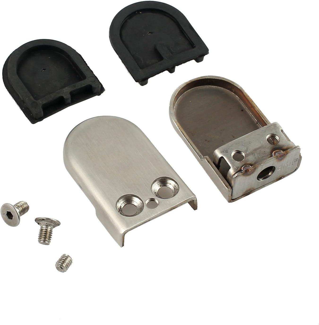 R/églable Support en Verre Support Dos pour Balustrade Escalier Main Courante QitinDasen 8Pcs Professionnel Pinces /à Verre 8~10mm M Taille 304 Acier Inoxydable Porte-Verre