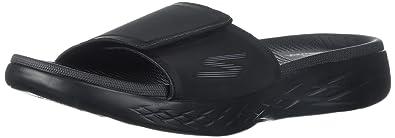Skechers on-The-Goo 600-Regal, Sandales Plateau Homme, Noir (Black), 42 EU