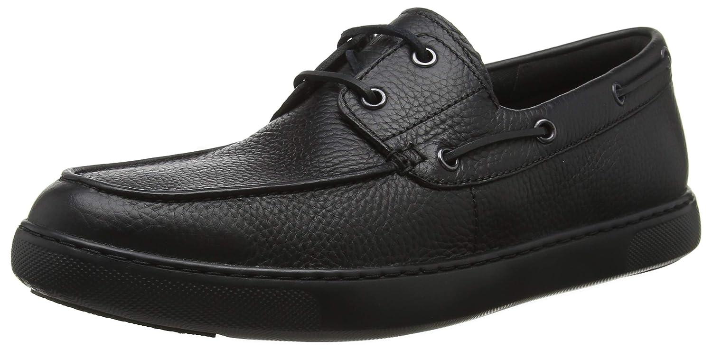 Fitflop Lawrence Boat Shoes, Mocasines para Hombre 44 EU Negro (Black 001)