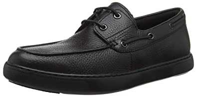e5a9a6301e7 FitFlop Men s Lawrence Leather Boat Shoes Black 8