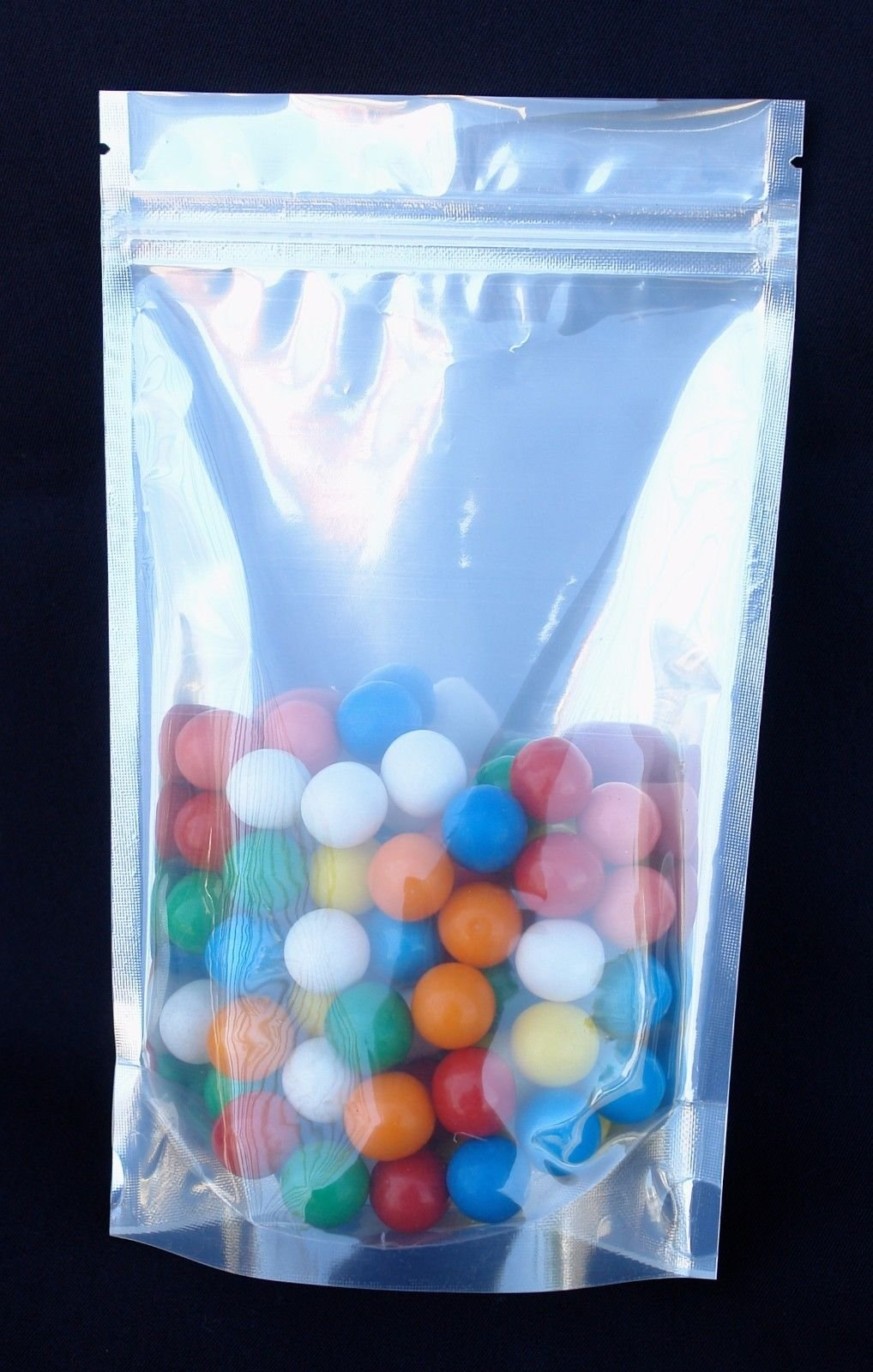 2000pcs~#5~ 4 x 2 x 6.4'' Clear Front Barrier Zipper Bag Stand Up Pouch For Packing Pill Cannabis by Dura