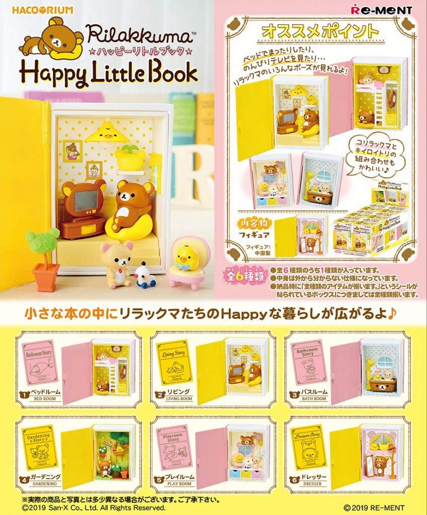 Re-Ment Miniature Rilakkuma Furniture Happy Little Book Full Set 8 Packs