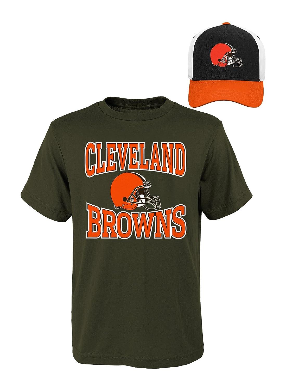 NFL Youthボーイズ半袖Tシャツと帽子セット Youth Boys Large(14-16) ブラウン   B01MDNVFMK
