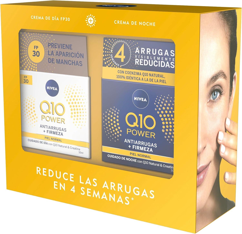 NIVEA Pack Q10 Tratamiento Antiarrugas 4 semanas, Caja de regalo mujer