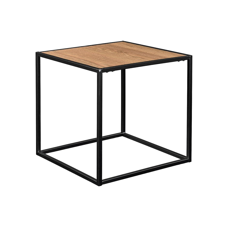[en.casa] [en.casa] [en.casa] Stylischer Beistelltisch Couchtisch - Holz - Metall (45x45) 8a4c23