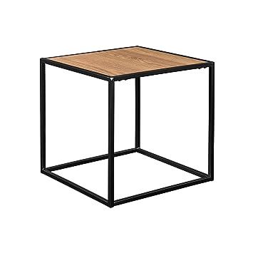 Encasa Stylischer Beistelltischcouchtisch Holz Metall 45x45