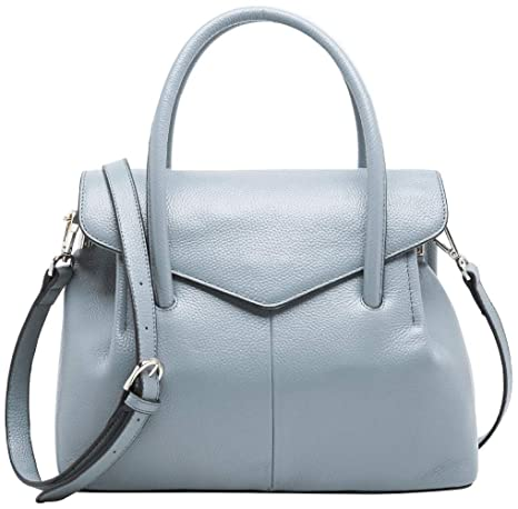 67f2f65a7463 BOYATU Genuine Leather Handbags for Women Business Satchel Ladies Purse Top  Handle Bag