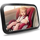Shynerk Baby Car Mirror, Safety Car Seat Mirror for Rear Facing Infant with Wide Crystal Clear View, Shatterproof, Fully Asse