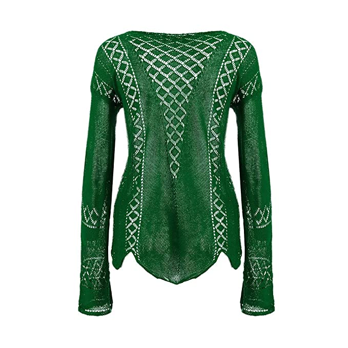 887c7102db34be iDWZA Women Fashion Pure Color Hollow Casual Knitted Baggy Blouses Tops  Shirts at Amazon Women s Clothing store