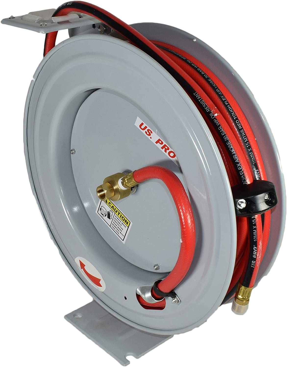Retractable 50ft Air hose on Reel 1//2 BSP Spring Rewind Wall Mountable BSP AT455