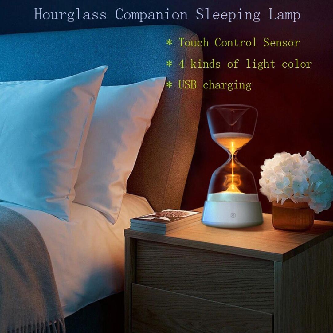 Nightlight、yjydada Rechargableクリスタル砂時計15分砂タイマー夜ライトホーム装飾 B07BLRX47F 15181
