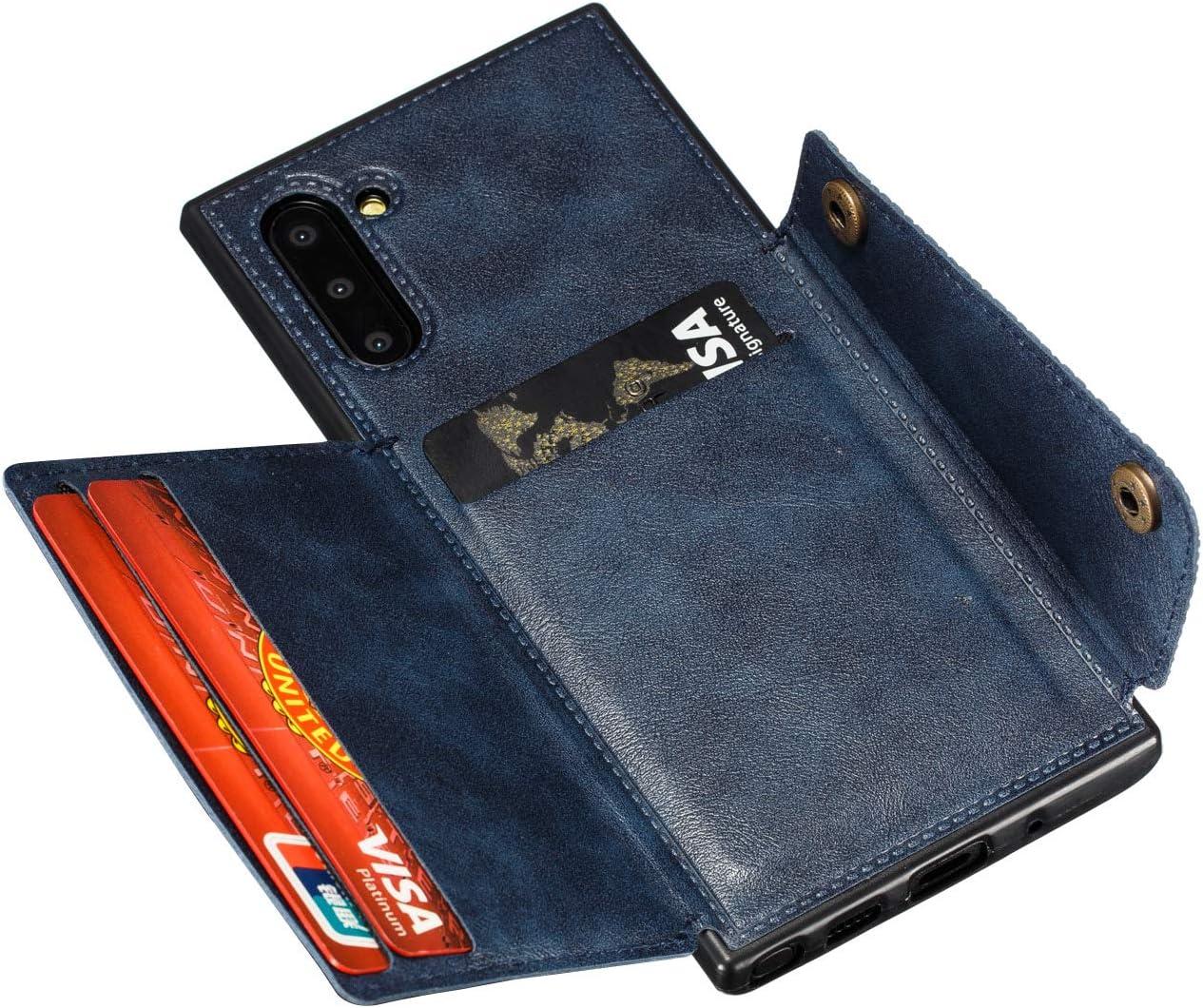 Shinyzone Etui pour Samsung Galaxy Note 10,Coque Housse Portefeuille avec Porte Cartes,Clapet Folio /Étui Arri/ère en Cuir /à Rabat pour Femme Homme ,Gris Support de Voiture Magn/étique