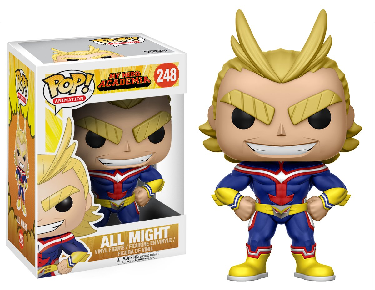 0fe317161de Amazon.com  Funko My Hero Academia All Might Pop Vinyl Figure  Funko Pop!  Animation   Toys   Games