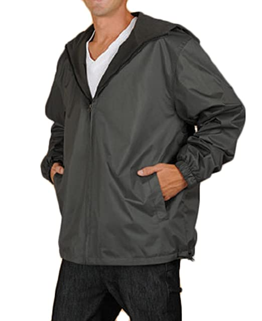 c0e6924d2a56 Maxx Outdoors Men s Fleece Lined Water Resistant Hooded Windbreaker Jacket  at Amazon Men s Clothing store