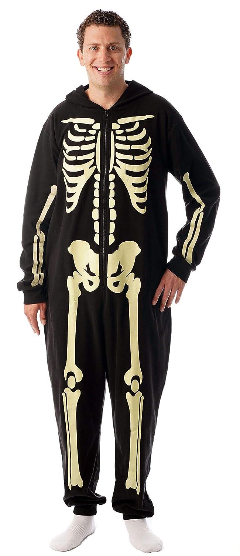 2afe5d2888 Amazon.com   followme Glow in The Dark Men s Skeleton Onesie Pajamas Family  Sleepwear  Clothing