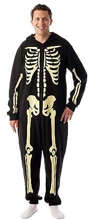1bbe24bb4 Amazon.com   followme Glow in The Dark Men s Skeleton Onesie Pajamas ...