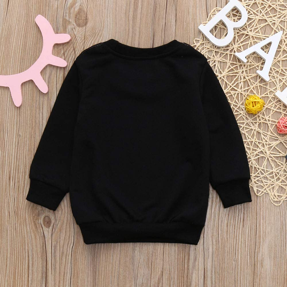 Sweatshirt Toddler Baby Girl Solid Fleece Cartoon Lion Printed Pullover Shirt Kids Clothes for 1-5Years