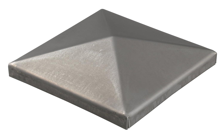 1 Stk. GAH-Alberts chapeau en acier brut /à souder pour poteau m/étallique carr/é 150 x 150 mm
