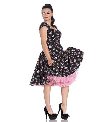 d9ada614efe5 Hell Bunny Stevie Tattoo Swallow Polka Dot 50s Style Dress: Amazon.co.uk:  Clothing