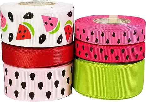 FOE Fold Over Elastic 5//8in Wide 100 Yard Spool Watermelon Print