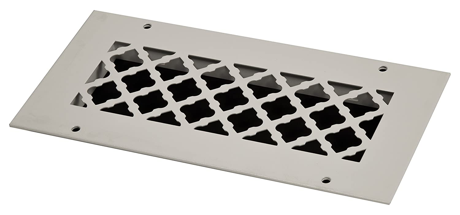 SteelCrest BTU10X4RWHH Bronze Series Designer Wall/Ceiling Vent Cover, with mounting Screws, White