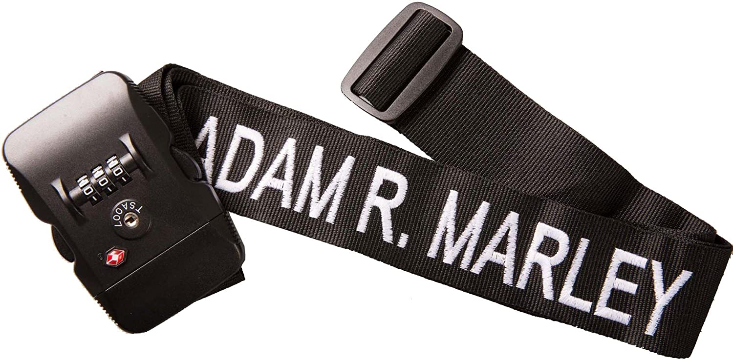 Personalised Luggage Strap Suitcase Lock Safe Belt Embroidered No text limit