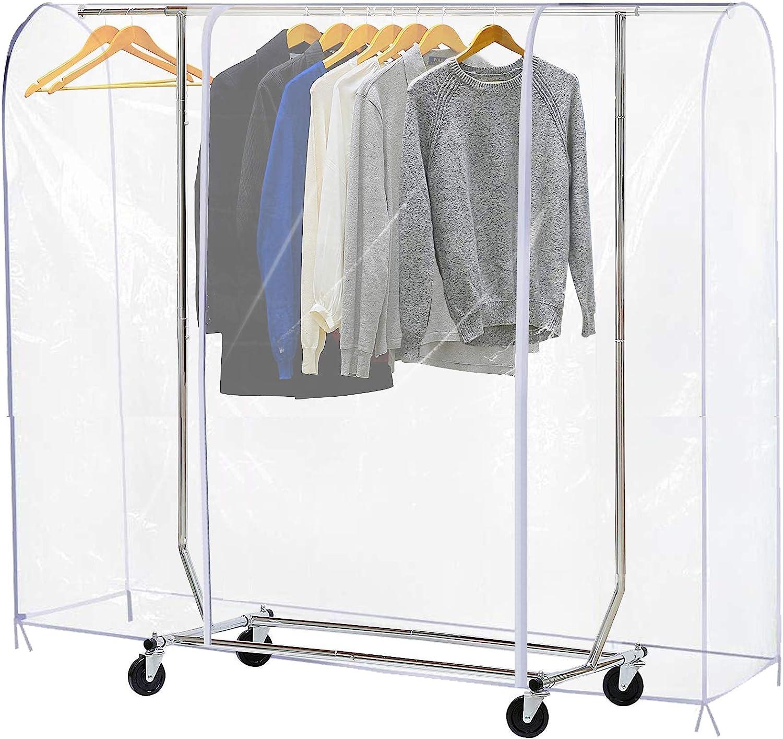Amazon.com: Ruibo - Cubierta transparente para perchero de ...