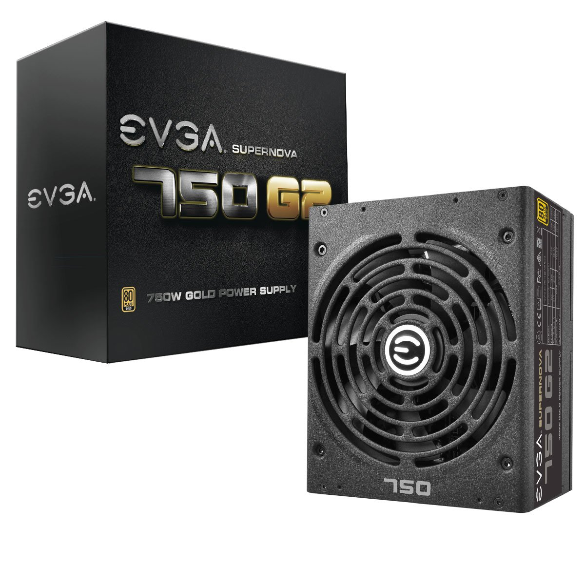 EVGA SuperNOVA 750 G2, 80+ GOLD 750W, Fully Modular, EVGA ECO Mode, 10 Year Warranty, Includes FREE Power On Self Tester Power Supply 220-G2-0750-XR by EVGA (Image #1)
