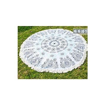 NIKUD Ronda de algodón Toalla de playa Toalla Circular nadar Yoga Yoga Mantel Viajes tapices Manta manta para picnic tapices toalla,decorativo para colgar ...