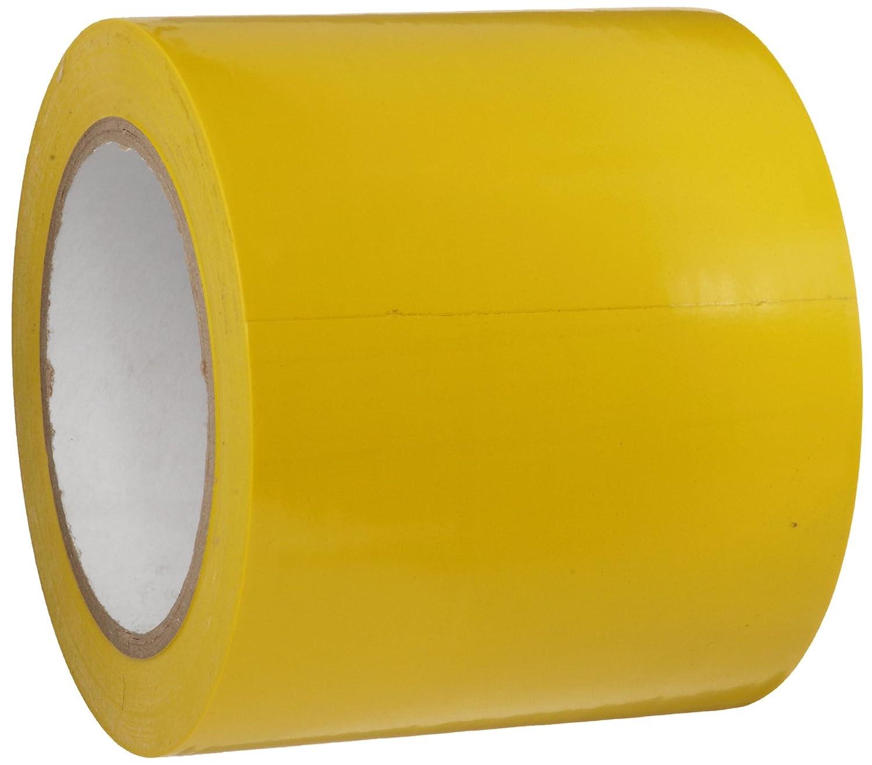 Brady 102838 B726 Nonabrasive Floor Marking Tape, 108' Length, 4' Width, Yellow (Pack of 1 Roll) 108' Length 4 Width