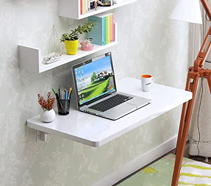 Amazon White Wall Mounted Folding Table Desk Drop Leaf Dining