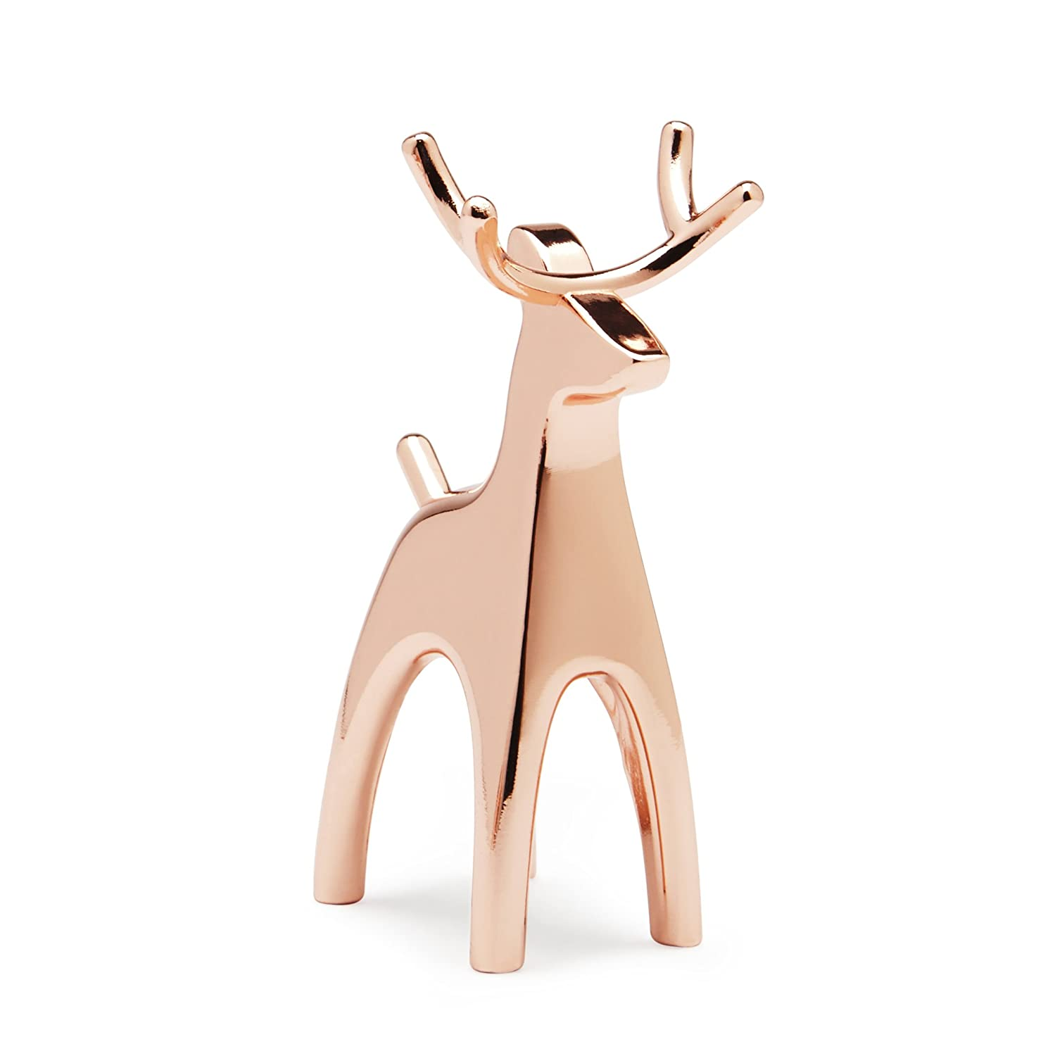 Umbra Bunny Zinc Anigram Ring Holder, Copper/White 299118-880