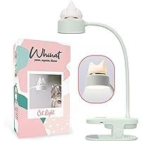Cliplamp, flexibel & nachtlamp/led & oplaadbaar via USB, klemlamp, klemlamp voor bevestiging op bureau, werkplaats, bed…