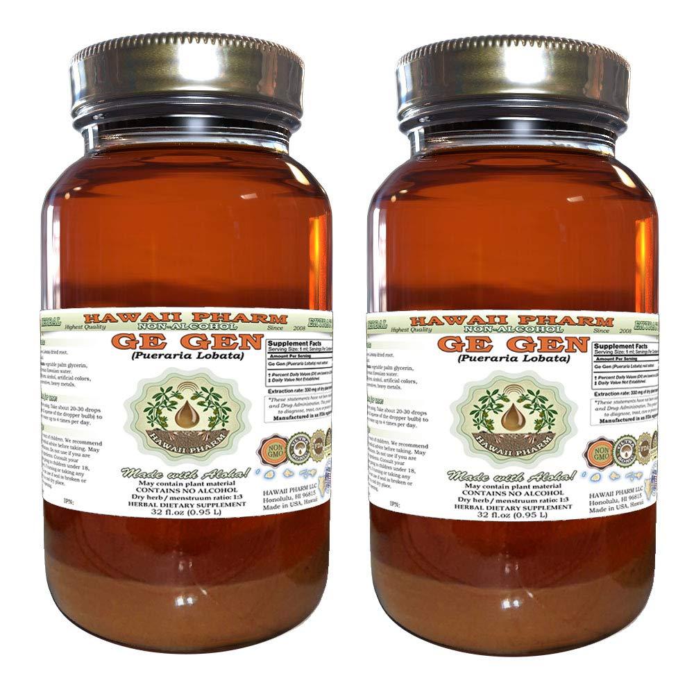 Ge Gen, Kudzu (Pueraria Lobata) Tincture, Dried Root Liquid Extract, Ge Gen, Glycerite Herbal Supplement 2x32 Oz