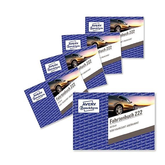 wei/ß DINA6 quer 40Blatt Avery Zweckform Fahrtenbuch PKW 222