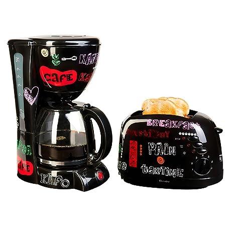 "Set desayuno especial ""palabras"" – Cafetera 12 Tazas 1.5L + Tostadora 2"