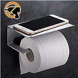 Wangel Portarotolo WC Porta rotolo Carta Igienica, Colla Brevettata + Autoadesivo, Alluminio, Finitura Opaca