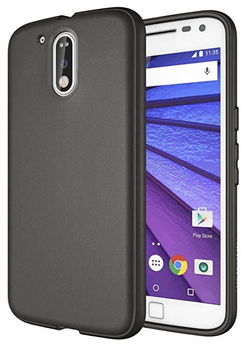 Diztronic – Carcasa Slim-fit Flexible de TPU para Motorola Moto G4 y Moto G4 Plus – Mate aleación Color Gris, Compatible con Moto G4, Moto G4 Plus, ...