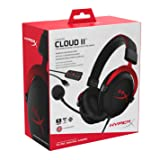 HyperX Cloud II Gaming Headset - 7.1 Surround Sound - Memory Foam Ear Pads - Durable Aluminum Frame - Multi Platform Headset - Works with PC, PS4, PS4 PRO, Xbox One, Xbox One S - Red