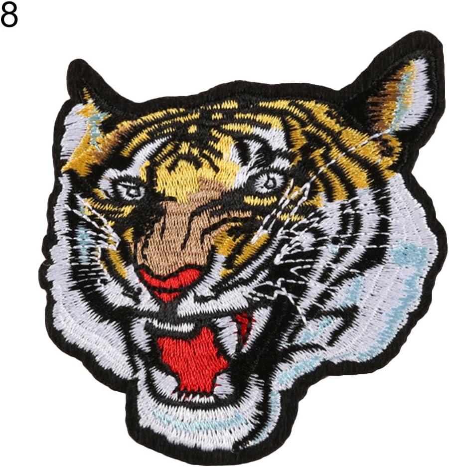 Animal Tiger Wolf - Parche bordado para coser o planchar 8 ...