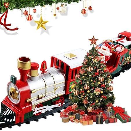Lights /& Sounds Classic Christmas Santa Claus Train Xmas Kid Gift Decor