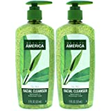 Beauty America Tea Tree Facial Cleansing Wash - with Jojoba Beads - 2 pack