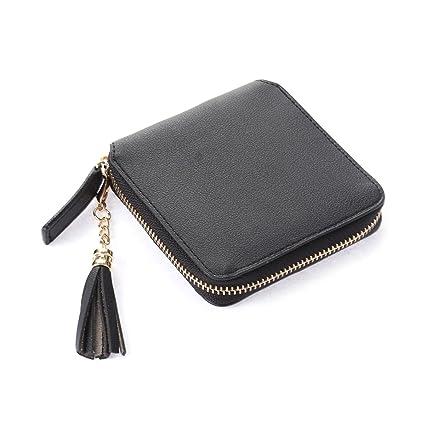 d0b45e0b3b4a Amazon.com: TENDYCOCO Women Zipper Tassel Wallet Clutch Purse Women ...