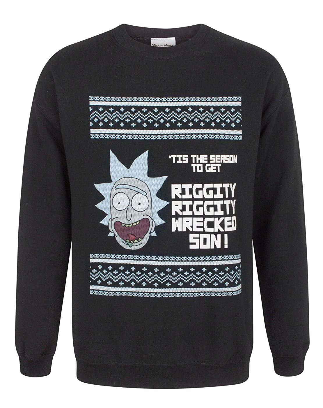 Rick And Morty Tis The Season Men's Christmas Sweatshirt CID