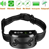 Yao yeow Dog No Bark Collar with Smart Detection Vibration and Harmless Shock- Rechargeable Anti Barking Device for Small Medium and Large Dog