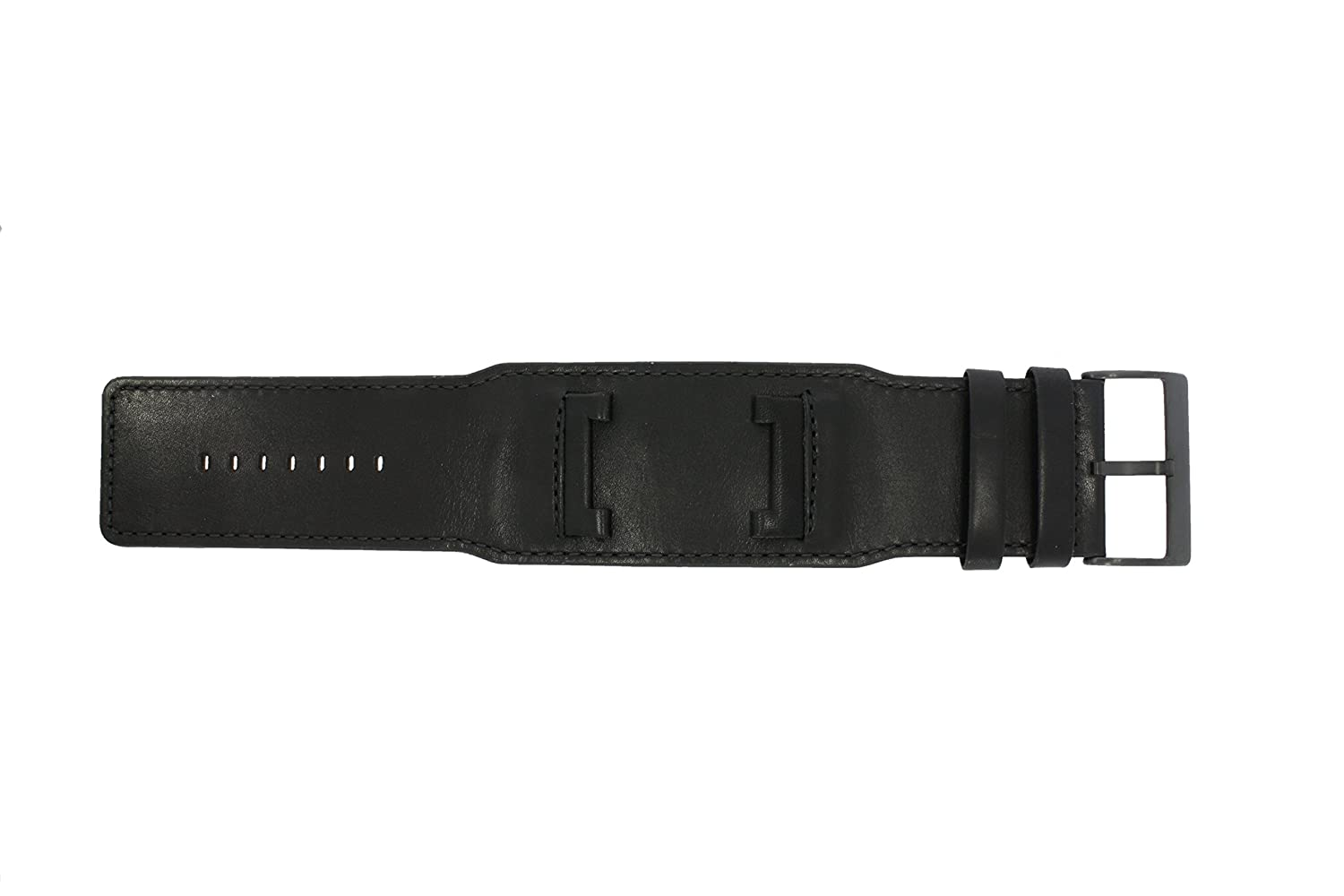 47c5703668 Guess watch strap W10265G1 Leather Black 32mm (Only watch strap - WATCH NOT  INCLUDED!)  Amazon.co.uk  Watches