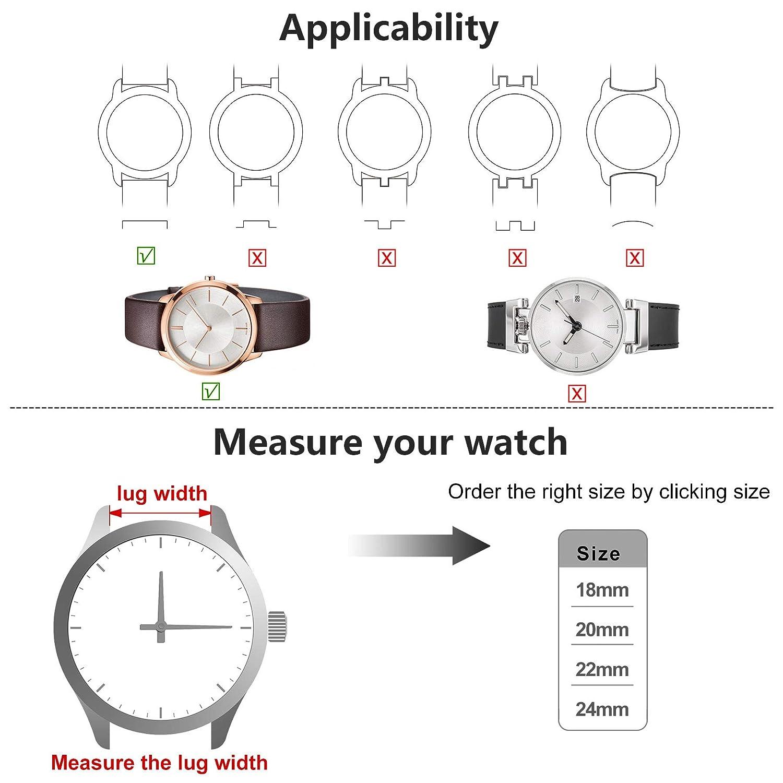 Amazon.com: 5 colores para la correa del reloj, Fullmosa ...