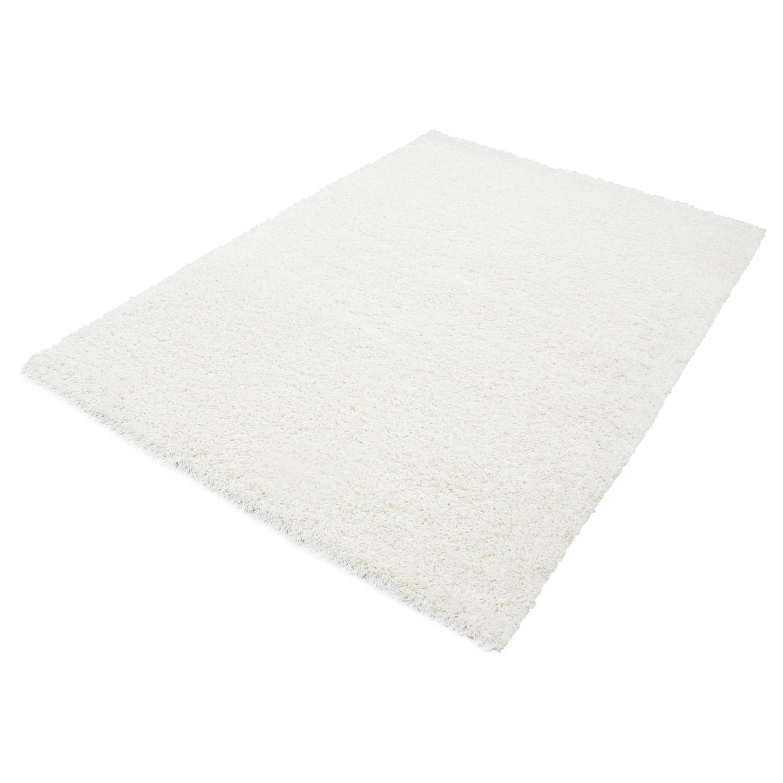 HomebyHome Shaggy Hochflor Langflor Einfarbig Günstig Teppich für Wohnzimmer mit Oeke Tex Zertifiziert 14 Farben und 17 Grössen, Größe 240x340 cm, Farbe Creme