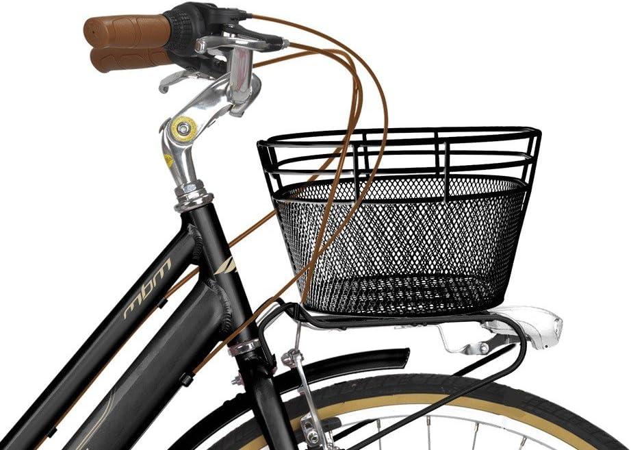 whyplus MBM bicicleta Cesto Cesta de la compra Rueda delantera de ...
